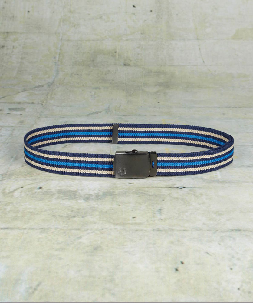 Fred Perry Fred Perry Stripped Webbing Belt Çok Renkli Ns