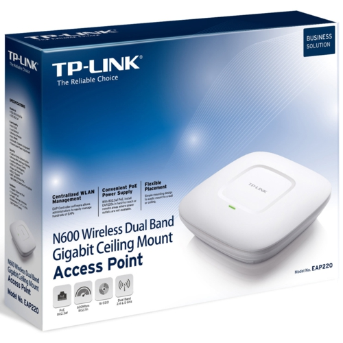 TP-Link EAP220 Wi-Fi 600Mbps Gigabit Access Point