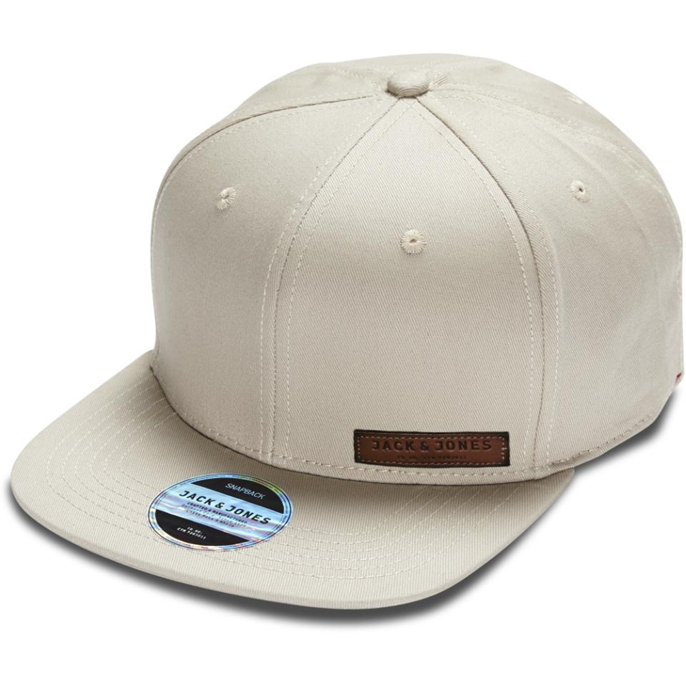 Jack & Jones Basıc Color Snapback Krem Standart