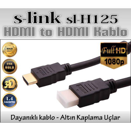 S-link SL-H125 HDMI TO HDMI 15m 1.4Ver. 3D